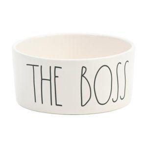 New Rae Dunn THE BOSS dog bowl